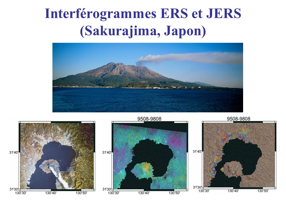 Interférogrammes ERS et JERS (Sakurajima, Japon)