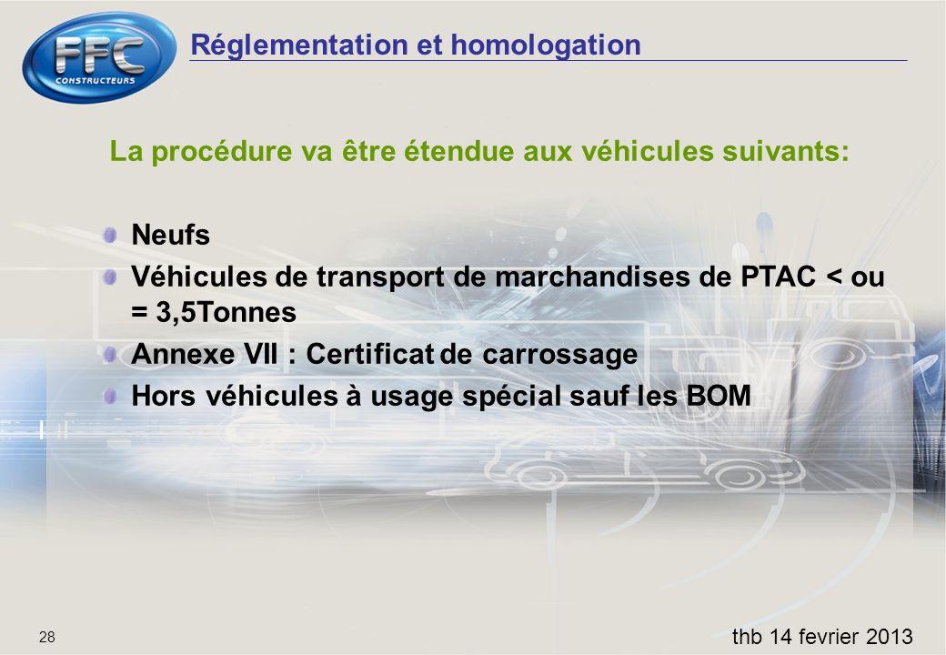 La procédure va être étendue aux véhicules suivants: