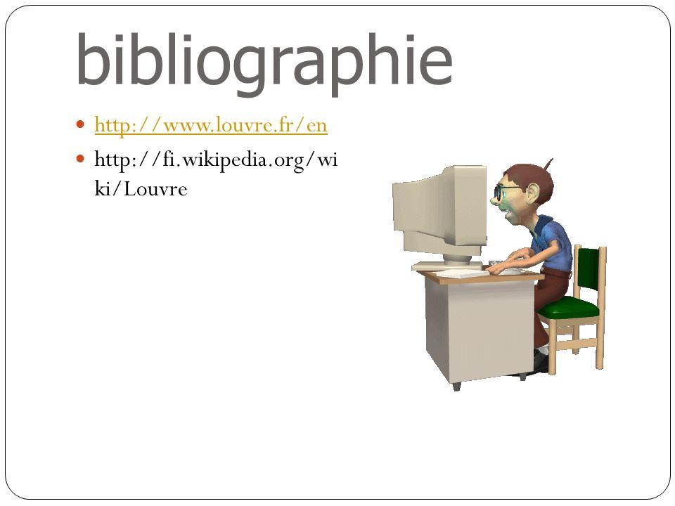 bibliographie http://www.louvre.fr/en