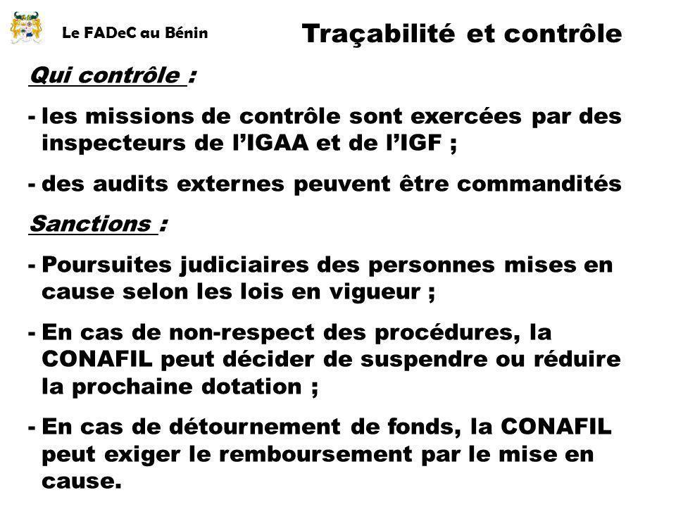 Traçabilité et contrôle