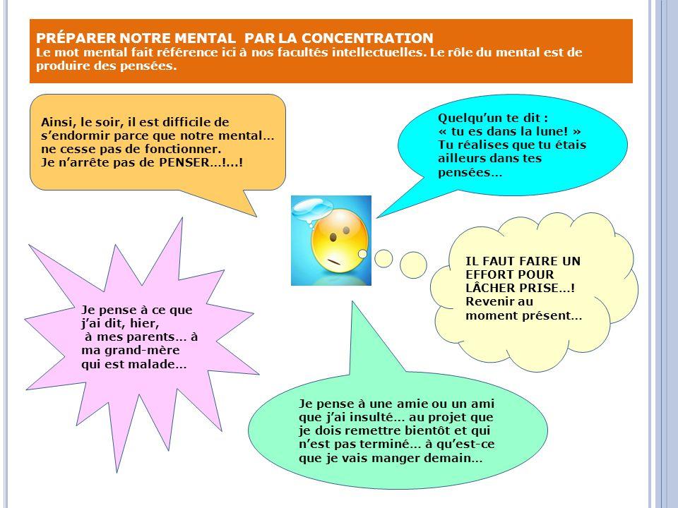 PRÉPARER NOTRE MENTAL PAR LA CONCENTRATION