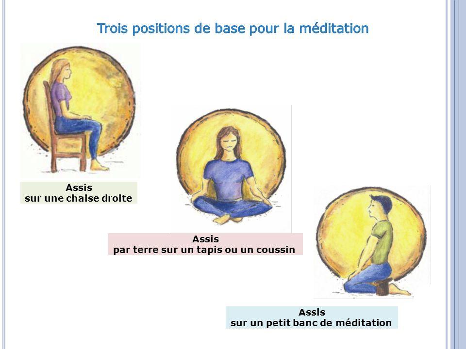 Trois positions de base pour la méditation