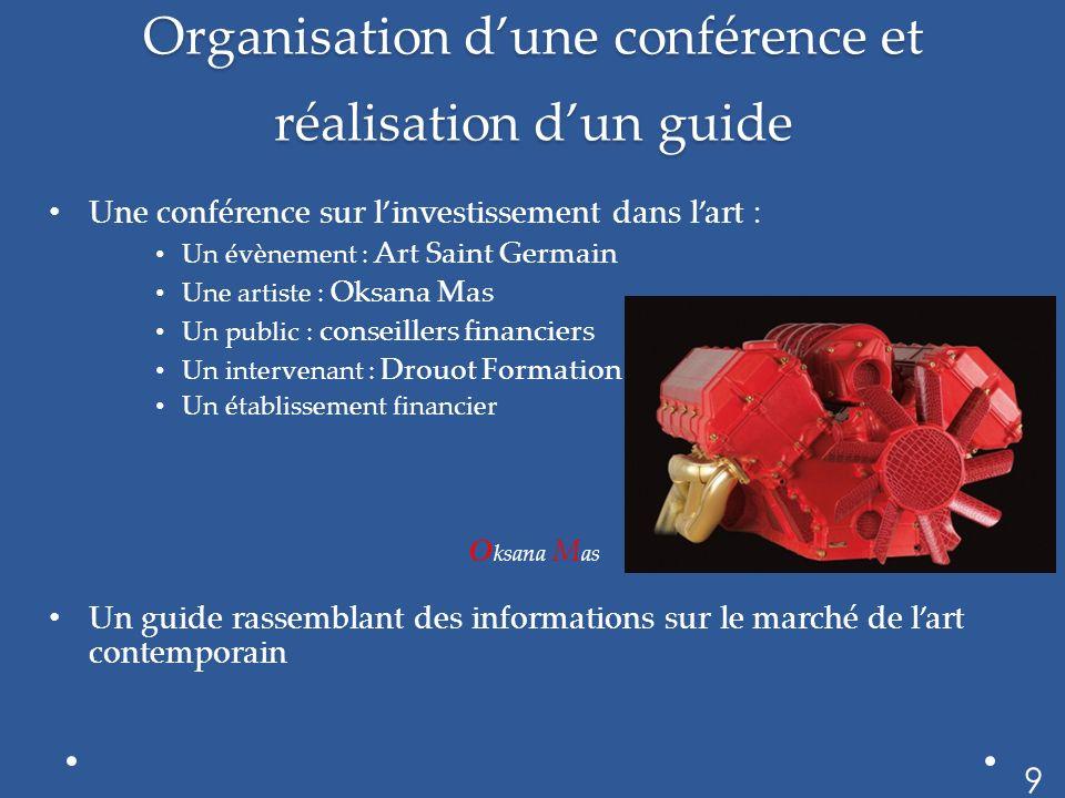 Organisation d'une conférence et réalisation d'un guide