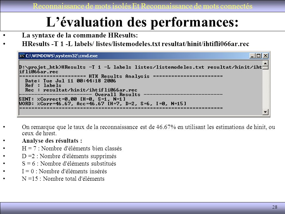 L'évaluation des performances: