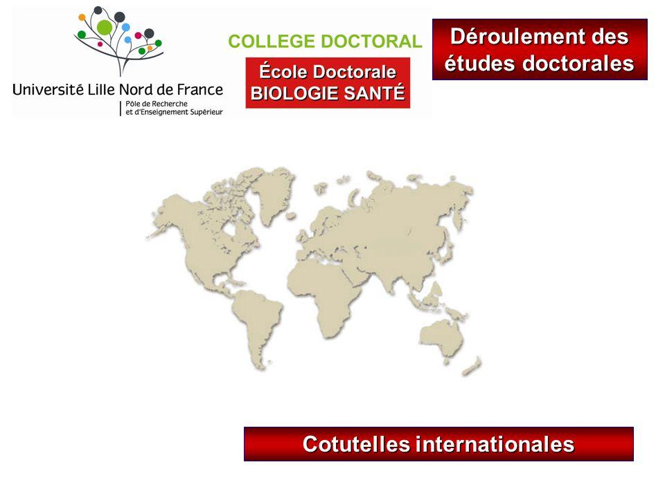 Déroulement des études doctorales Cotutelles internationales