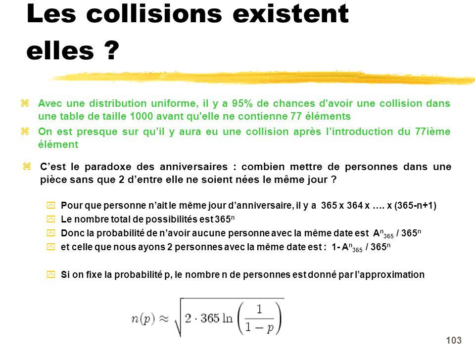 Les collisions existent elles