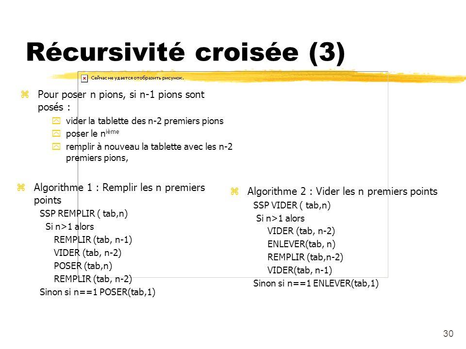 Récursivité croisée (3)