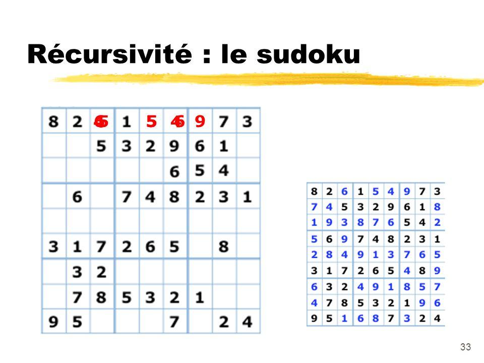 Récursivité : le sudoku