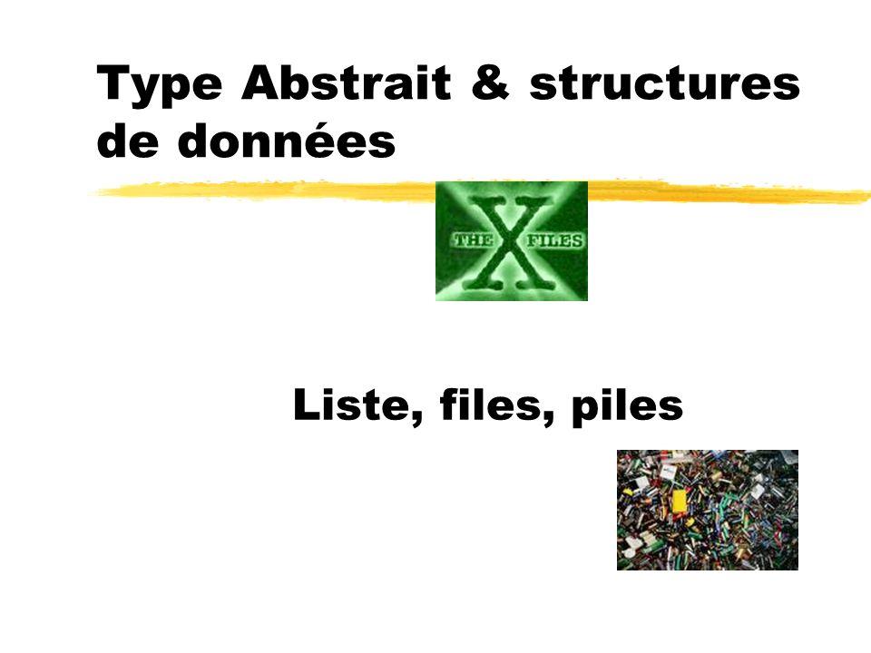 Type Abstrait & structures de données