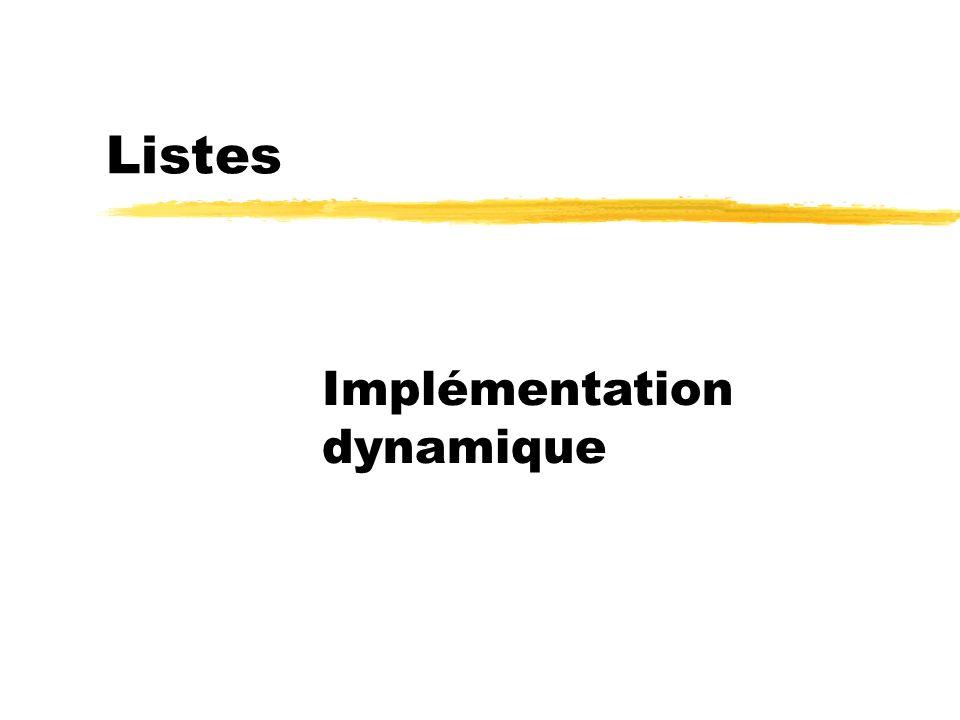 Listes Implémentation dynamique