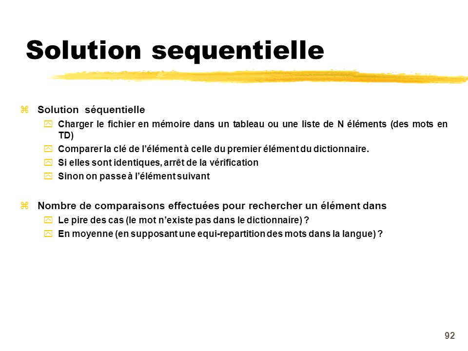 Solution sequentielle