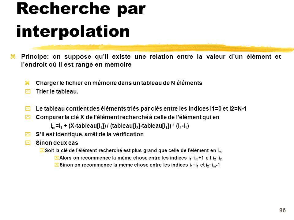 Recherche par interpolation