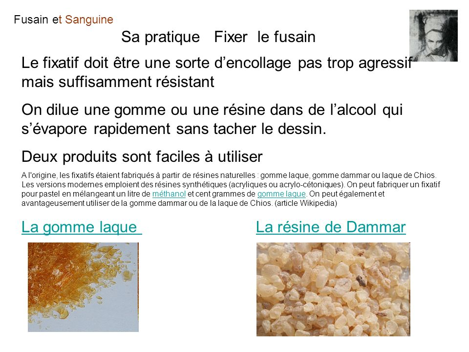 Sa pratique Fixer le fusain