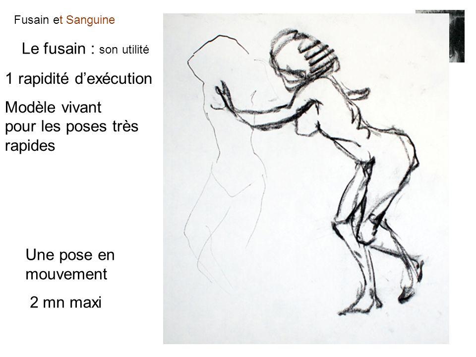 Le fusain : son utilité 1 rapidité d'exécution. Modèle vivant pour les poses très rapides. Une pose en mouvement.