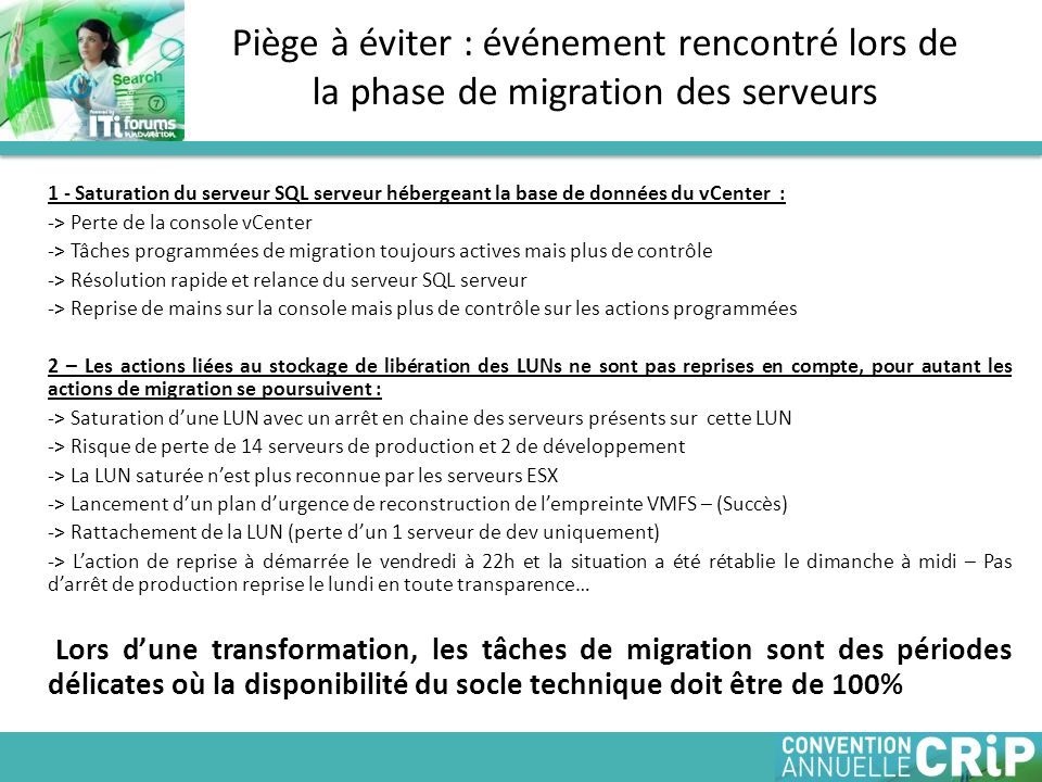 Piège à éviter : événement rencontré lors de la phase de migration des serveurs