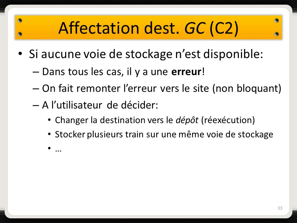 Affectation dest. GC (C2)