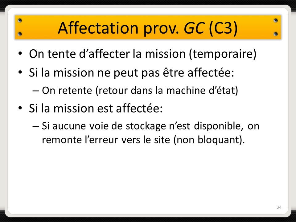 Affectation prov. GC (C3)