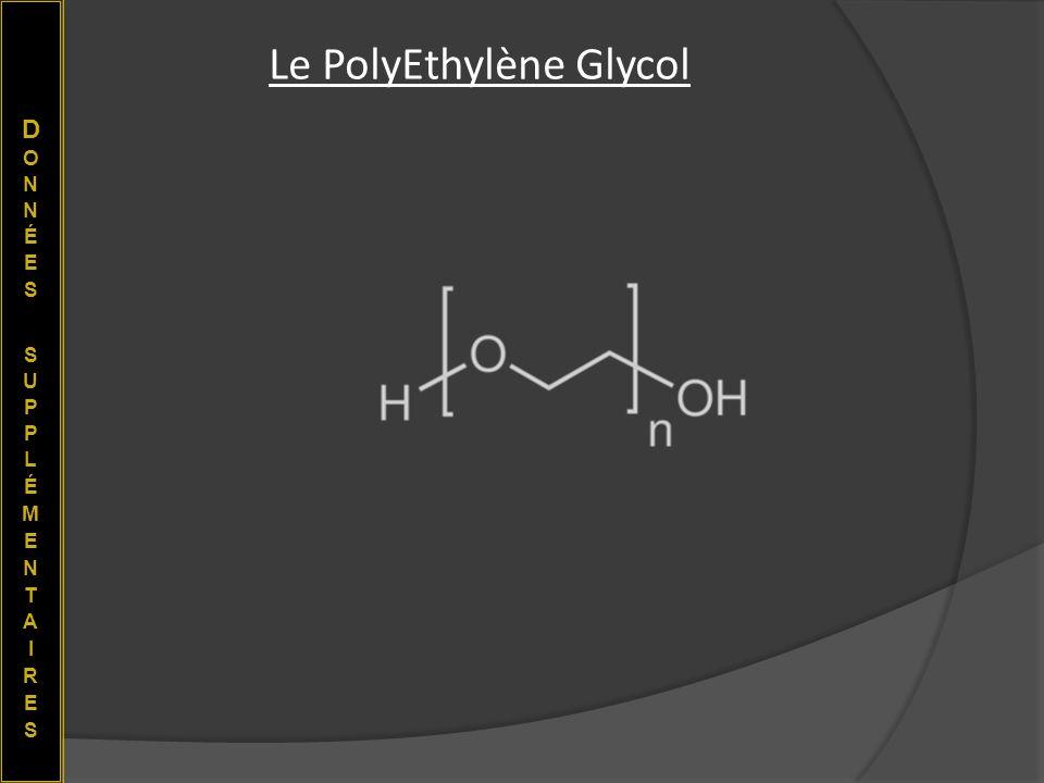 Le PolyEthylène Glycol