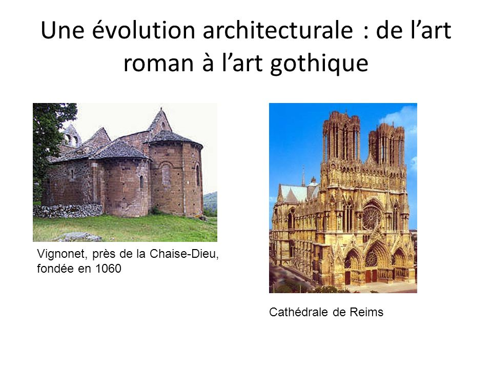 Une évolution architecturale : de l'art roman à l'art gothique