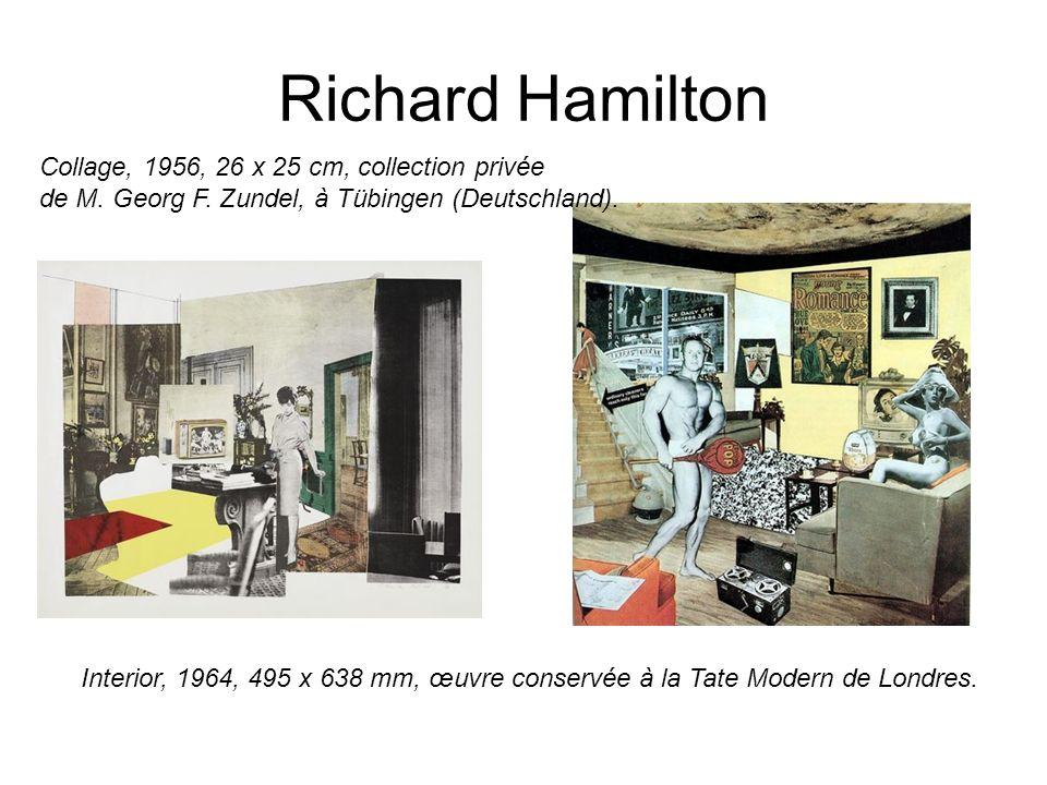 Richard Hamilton Collage, 1956, 26 x 25 cm, collection privée de M. Georg F. Zundel, à Tübingen (Deutschland).
