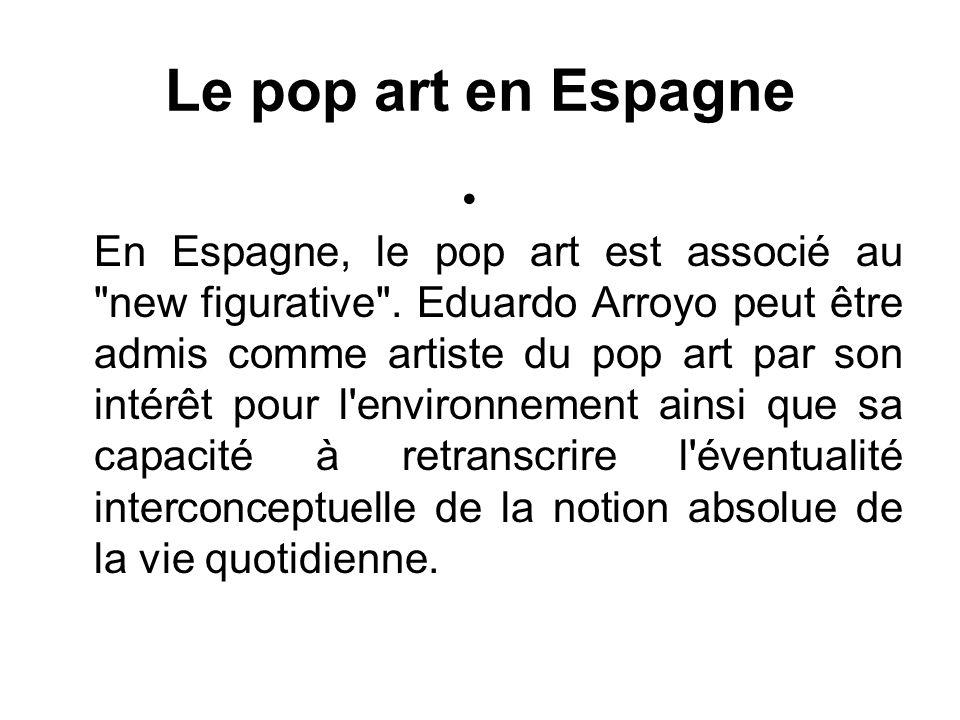 Le pop art en Espagne