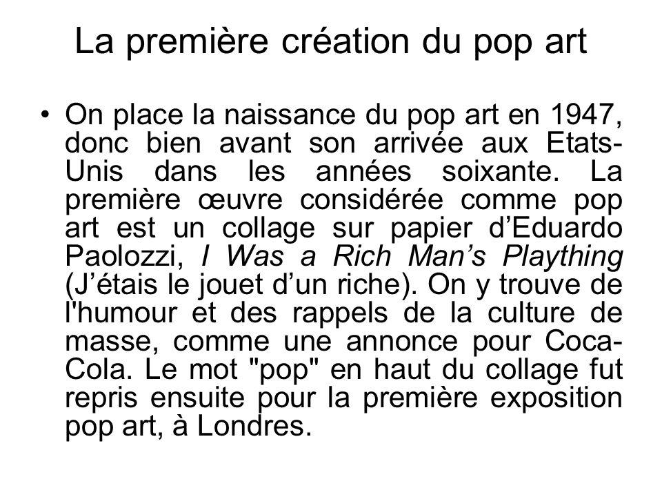 La première création du pop art