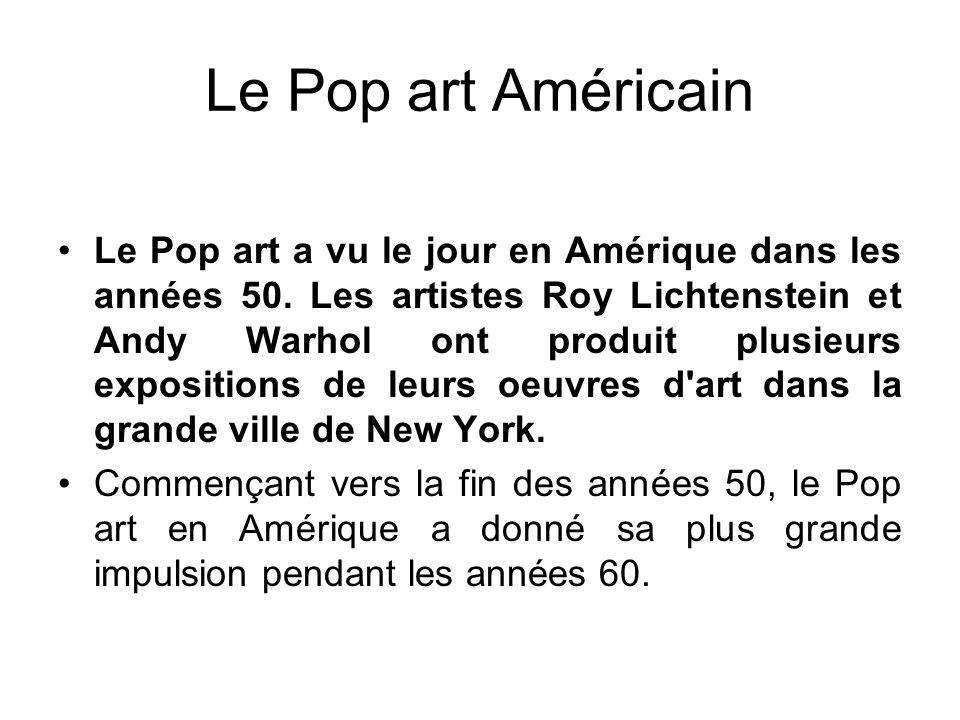 Le Pop art Américain