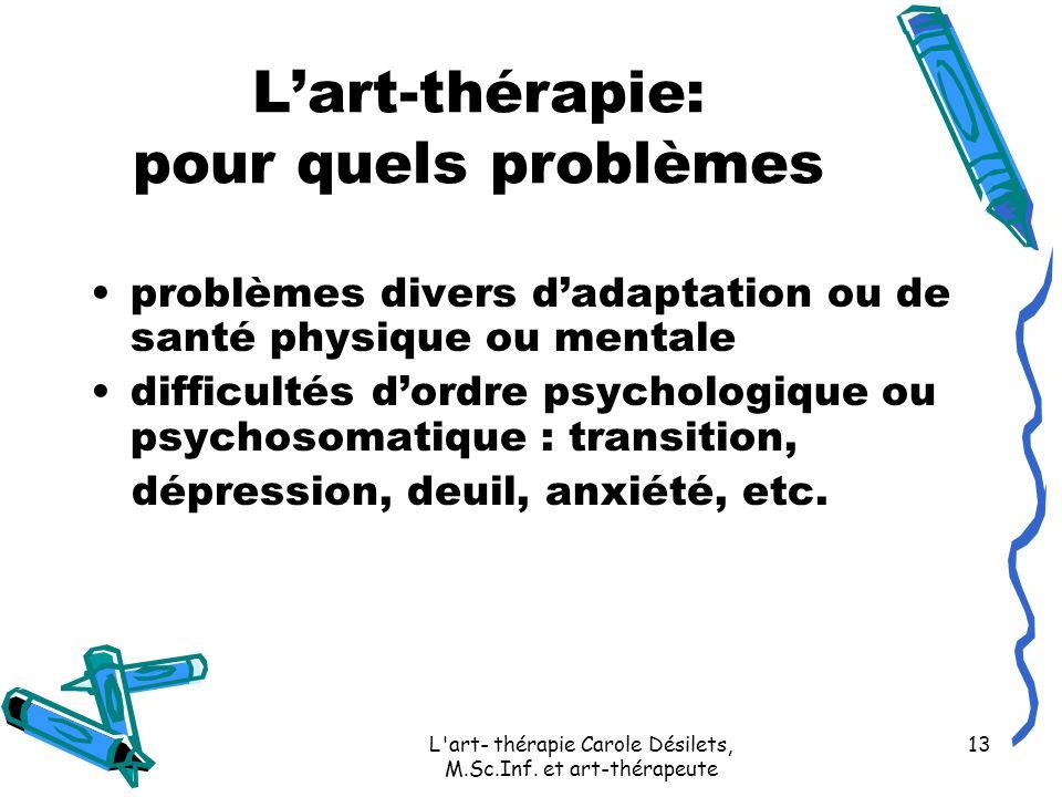 L'art-thérapie: pour quels problèmes