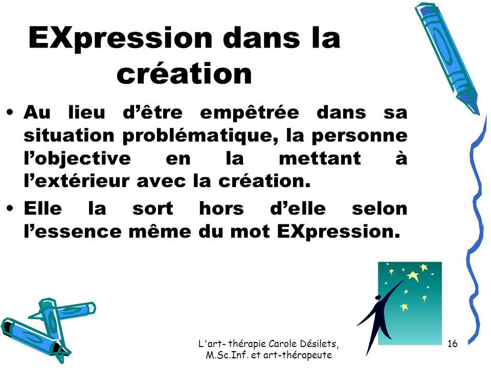 EXpression dans la création