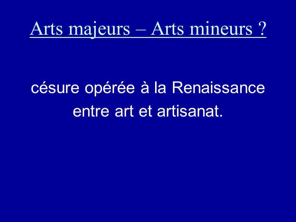 Arts majeurs – Arts mineurs