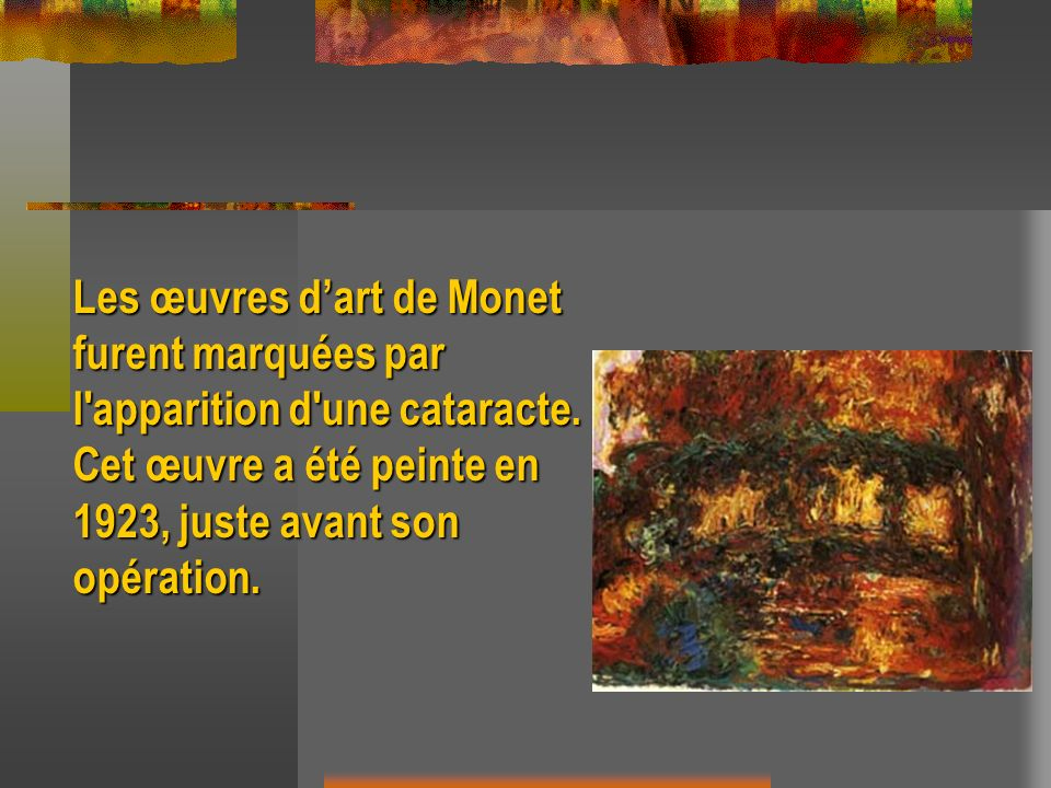 Les œuvres d'art de Monet