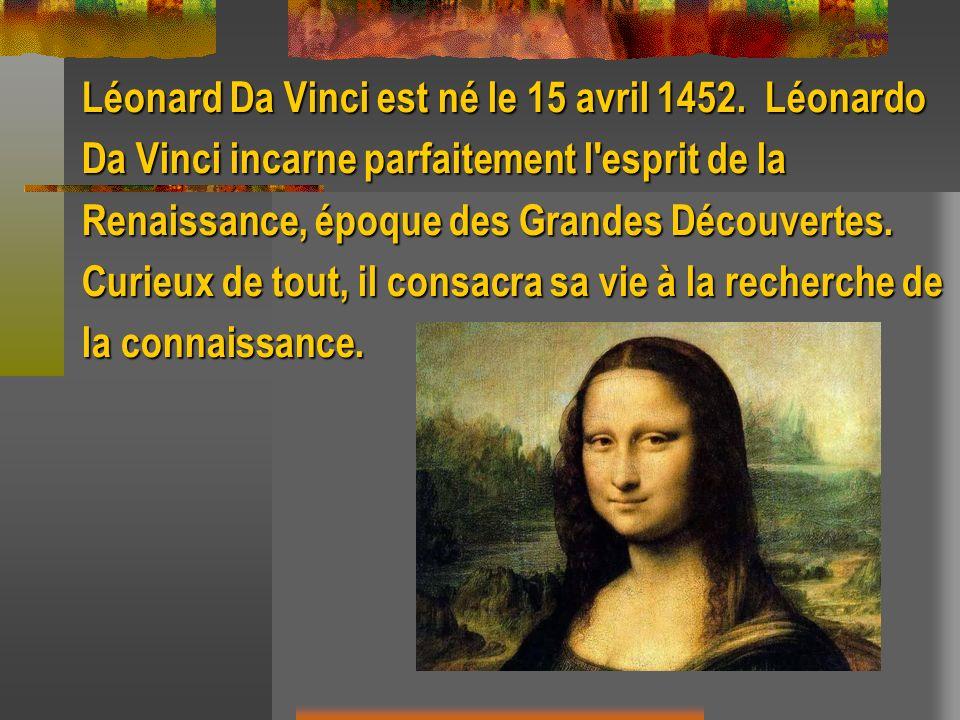 Léonard Da Vinci est né le 15 avril 1452. Léonardo
