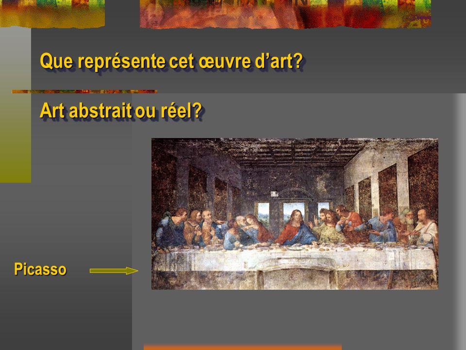 Que représente cet œuvre d'art Art abstrait ou réel