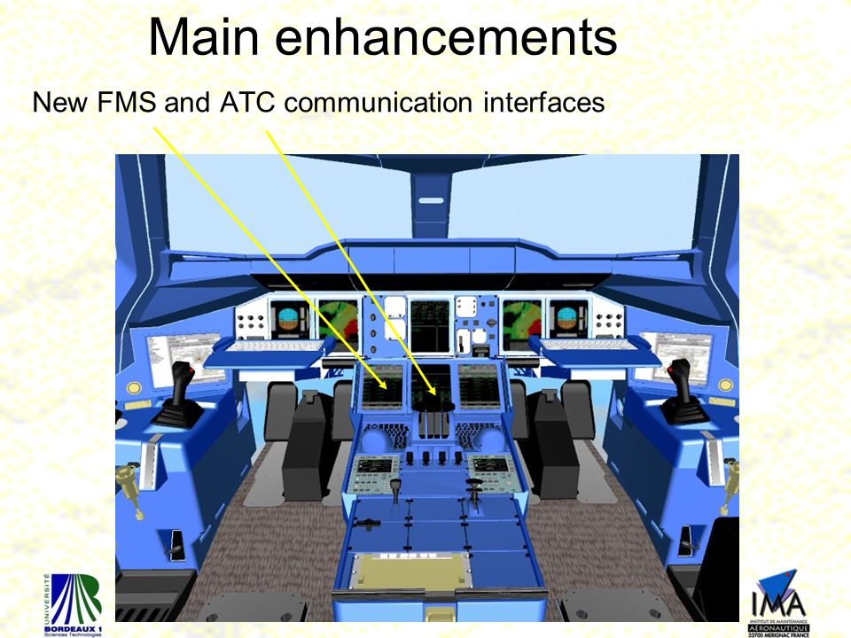 Main enhancements New FMS and ATC communication interfaces