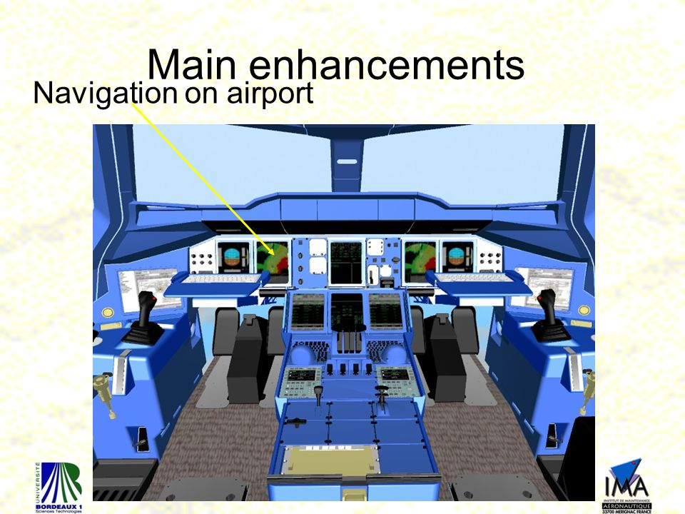 Main enhancements Navigation on airport