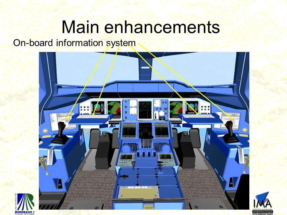 Main enhancements On-board information system