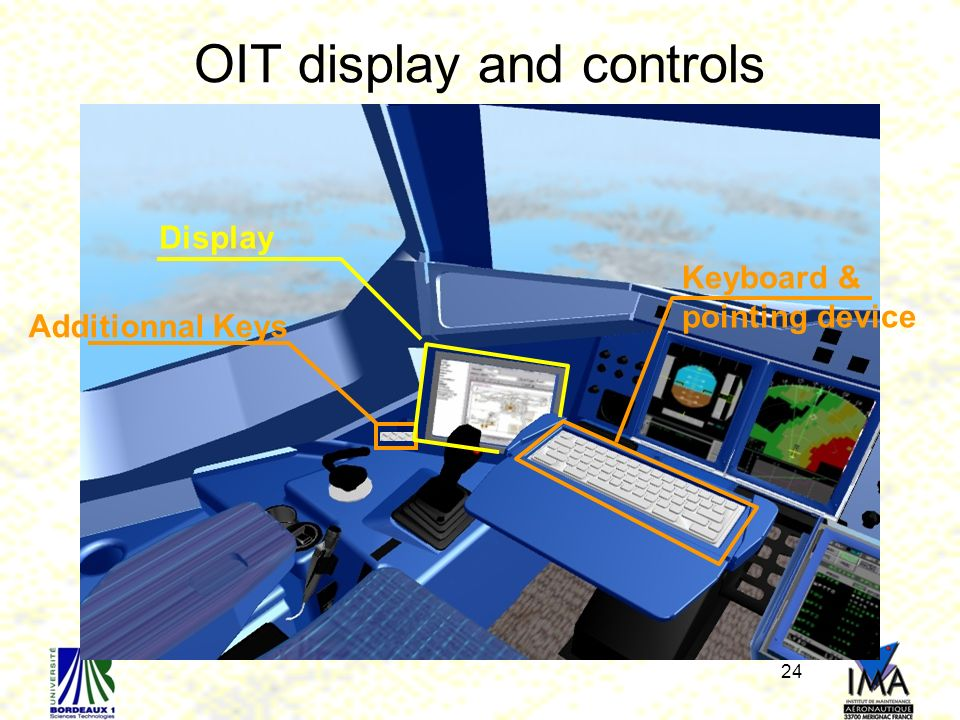 OIT display and controls
