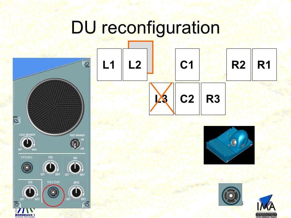 DU reconfiguration L1 L2 C2 C1 R3 R2 R1 L3 RECONF