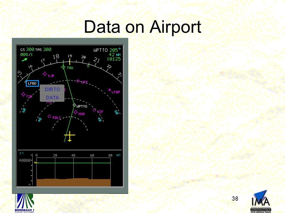 Data on Airport DIRTO DATA