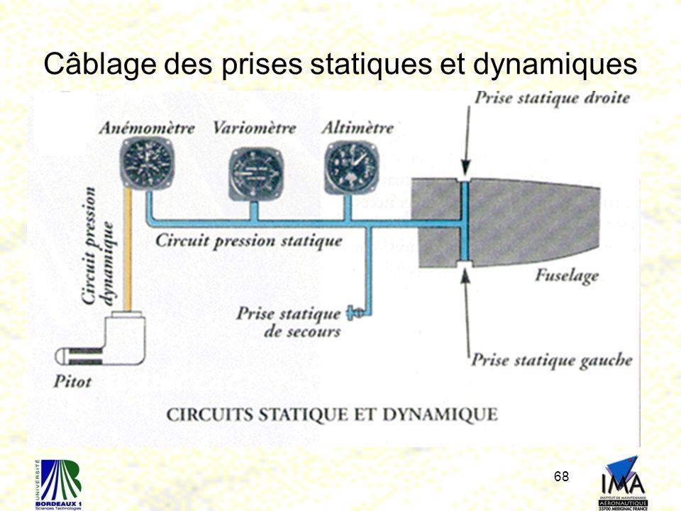 Câblage des prises statiques et dynamiques