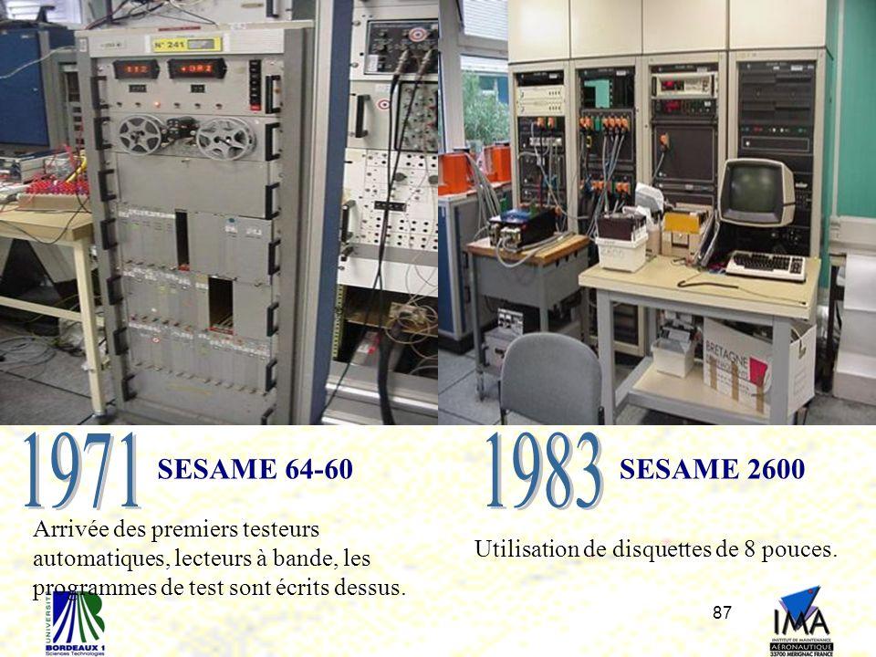 Utilisation de disquettes de 8 pouces.