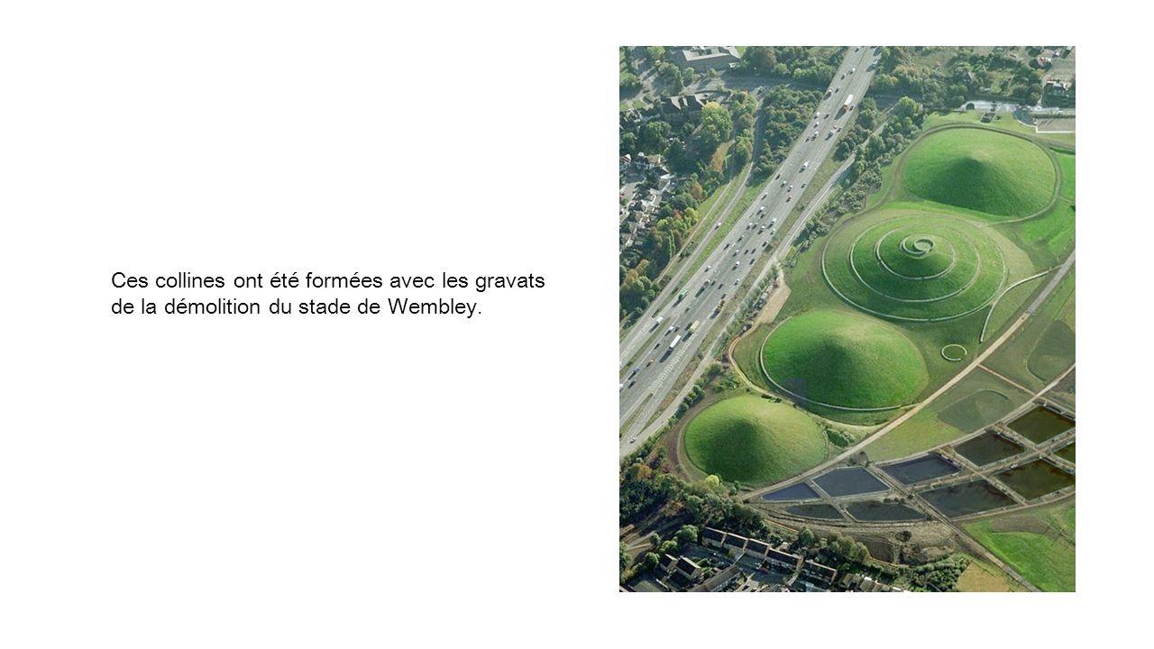Ces collines ont été formées avec les gravats de la démolition du stade de Wembley.