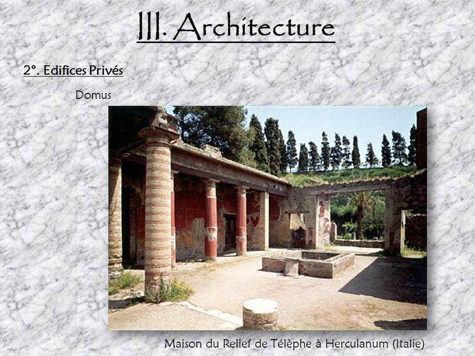 Maison du Relief de Télèphe à Herculanum (Italie)