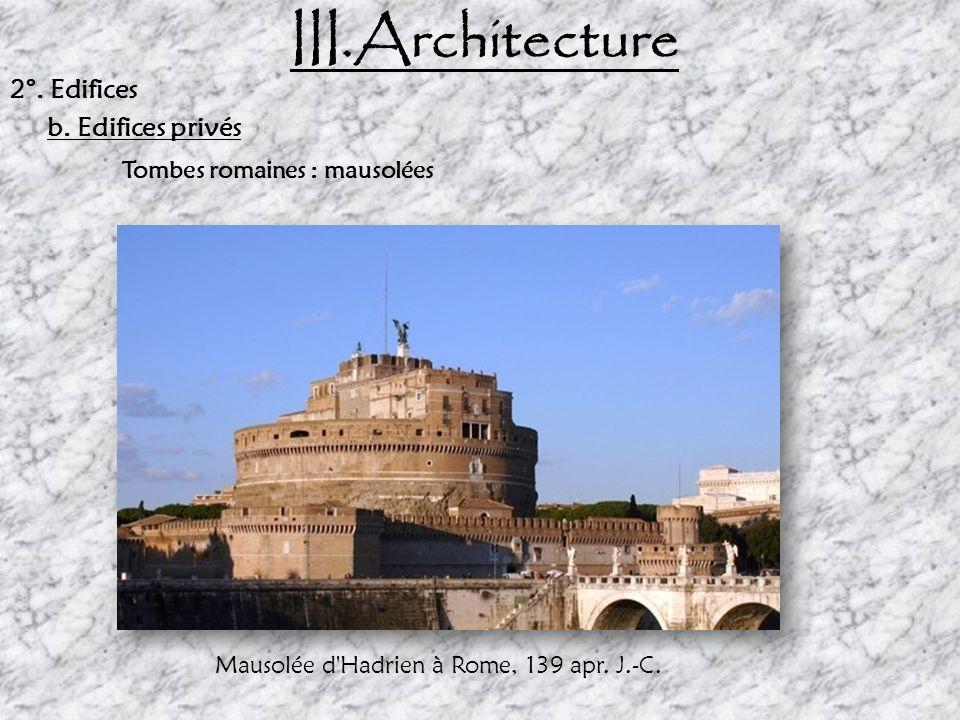 Mausolée d Hadrien à Rome, 139 apr. J.-C.