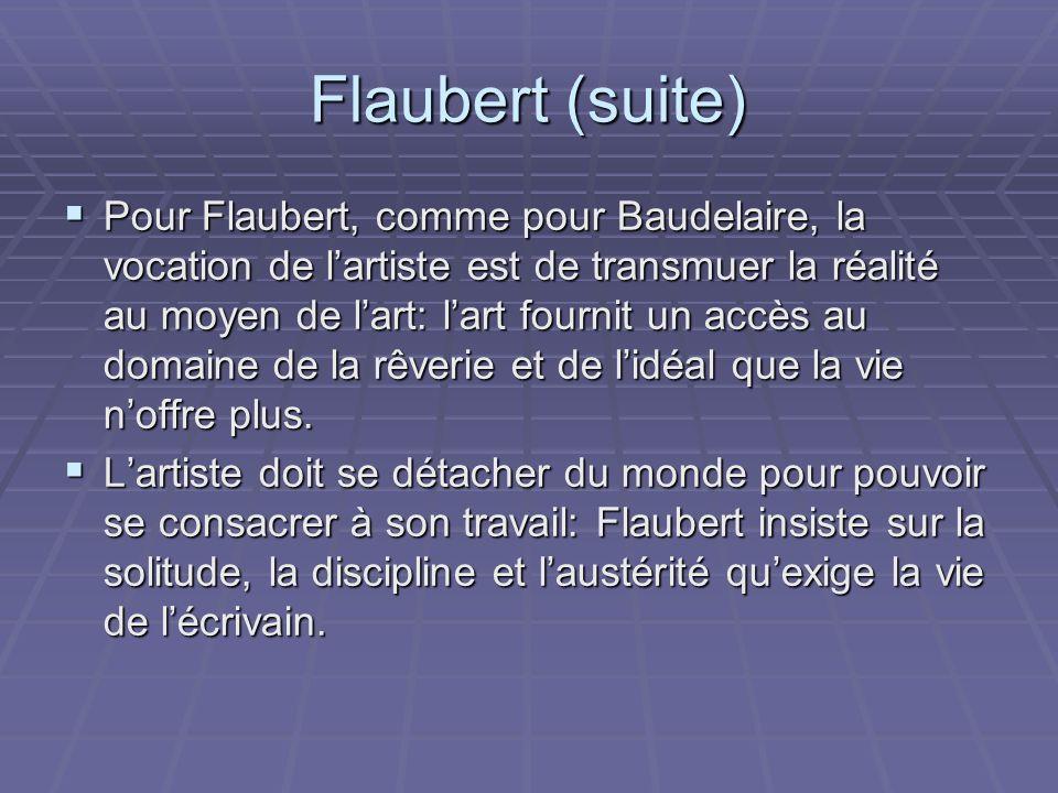 Flaubert (suite)