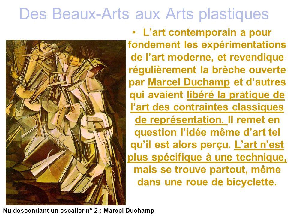 Des Beaux-Arts aux Arts plastiques