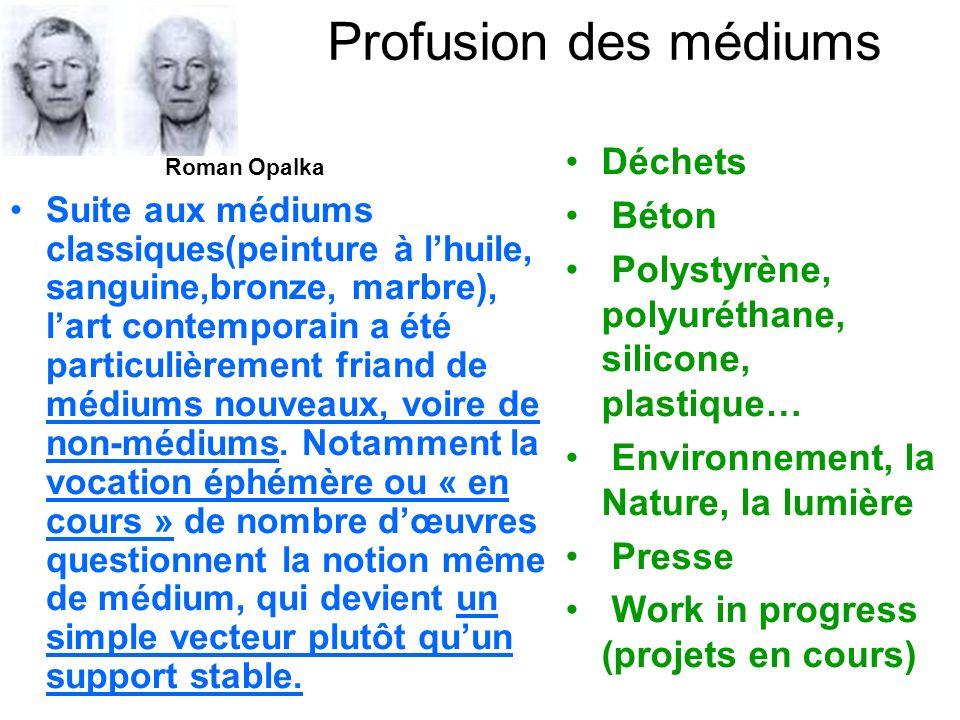 Profusion des médiums Déchets Béton