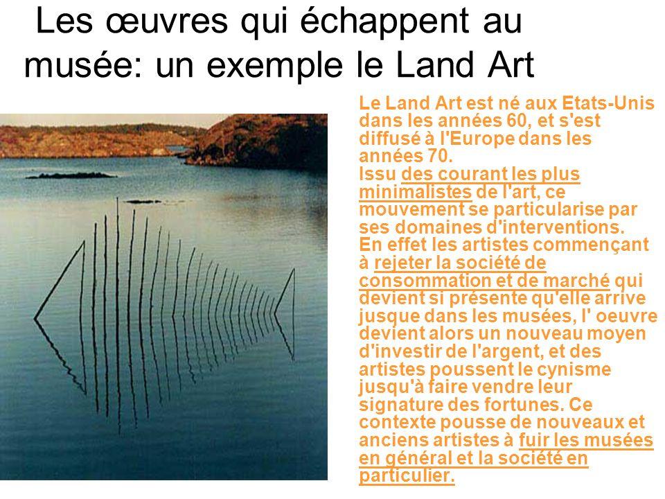 Les œuvres qui échappent au musée: un exemple le Land Art