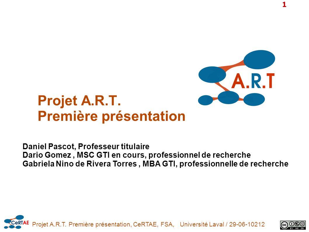 Projet A.R.T. Première présentation