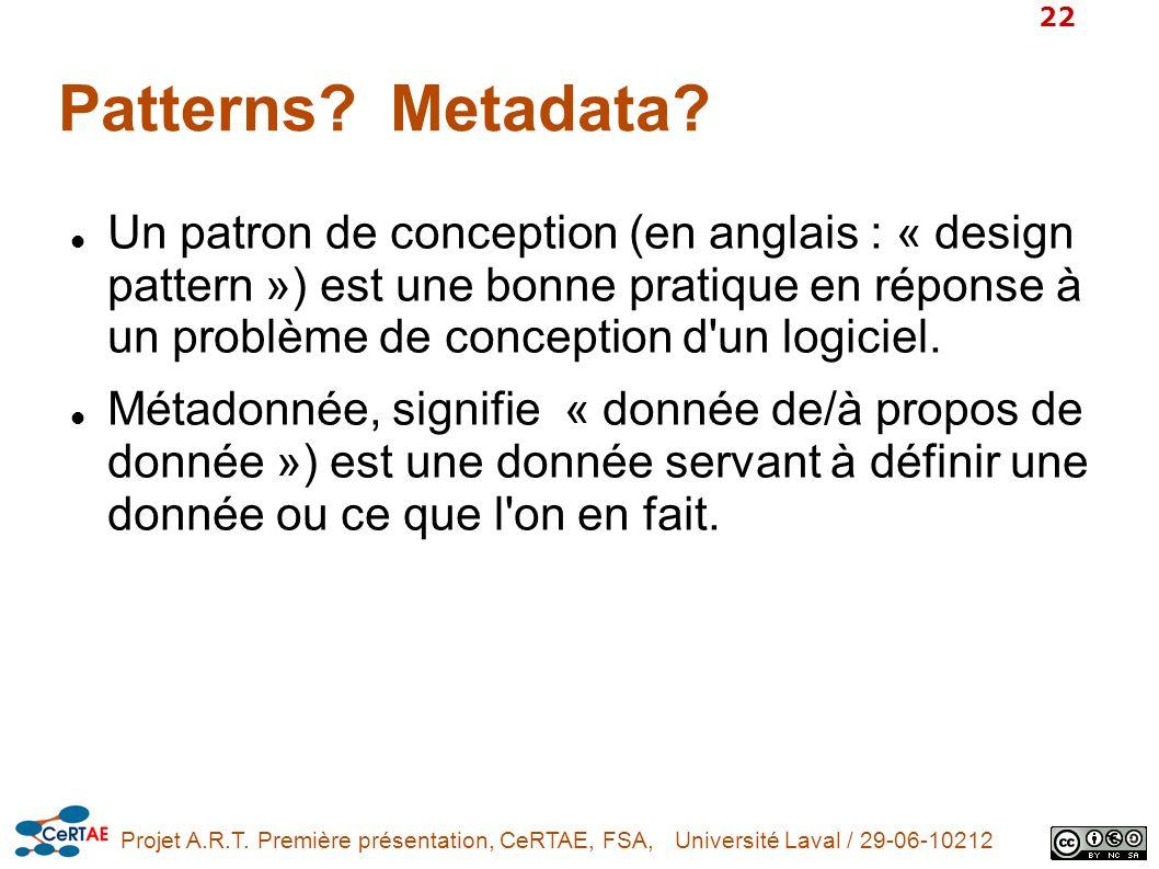 Patterns Metadata